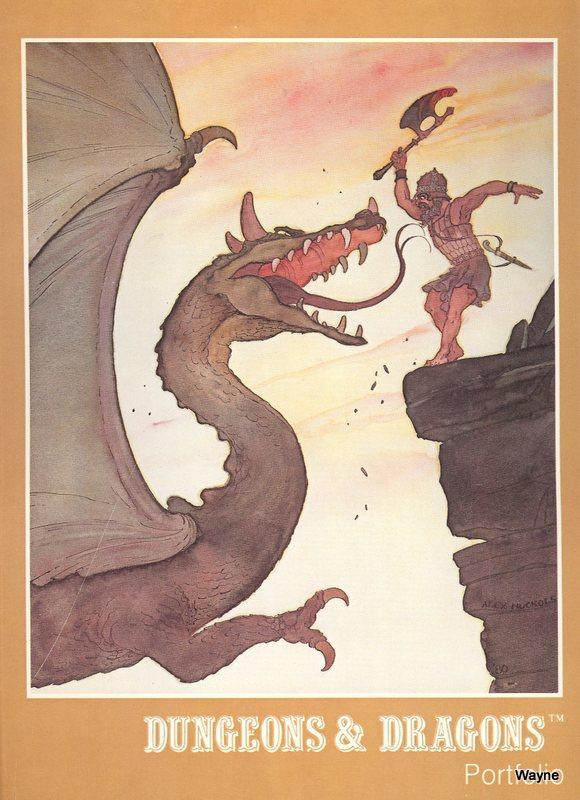 D&D Portfolio man cliff dragon