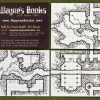 Dungeon geomorph business cards - Collect All 10!
