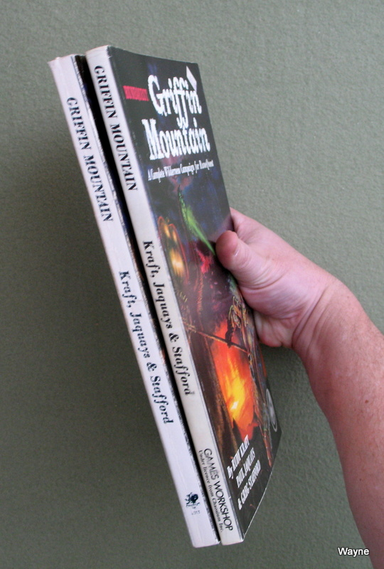 Griffin Mountain US & UK editions spines