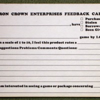 ICE feedback card, ca. 1982.