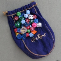 Crown Royal Purple Bag used for dice