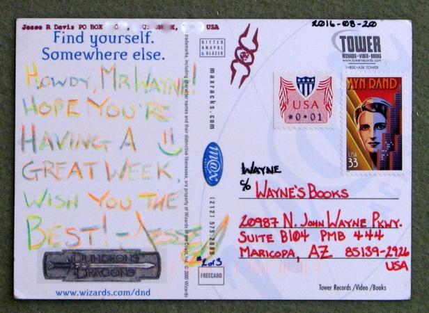 Jesse David postcard 2b