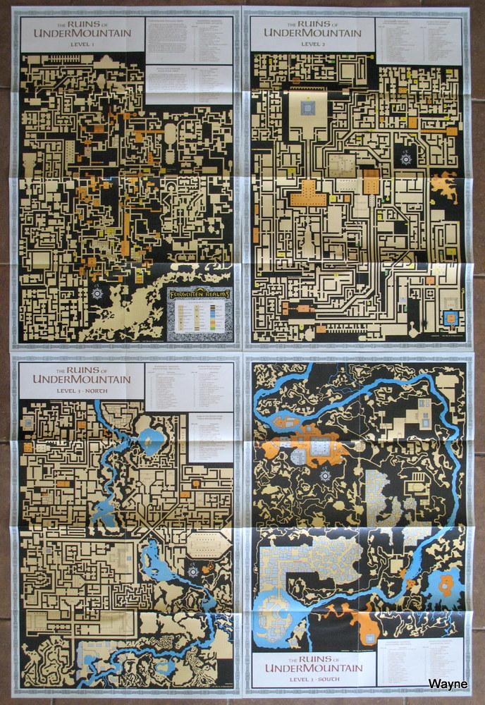Ruins of Undermountain: The maps – Wayne's Books