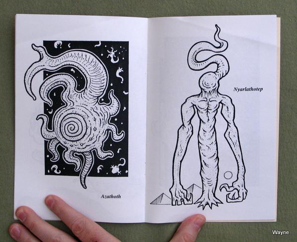 Cthulhu Coloring Book - Madjoe Press - Azathoth & Nyarlathotep