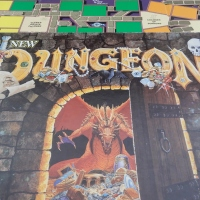 The New Dungeon board game (1989): Data on the BIG set and Expansion