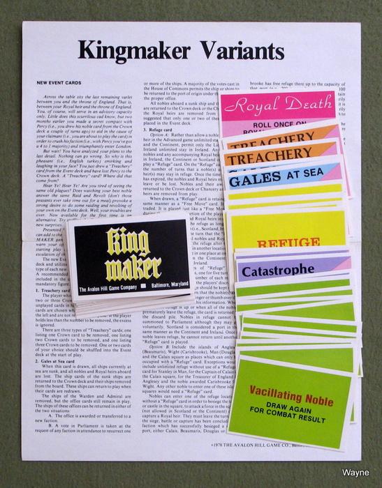 Kingmaker Variant Event cards