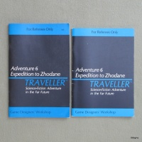 Traveller Adventure 6: Expedition to Zhodane (1981) - US (GDW) and UK (Games Workshop) editions