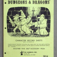 1979 D&D Character Record Sheets