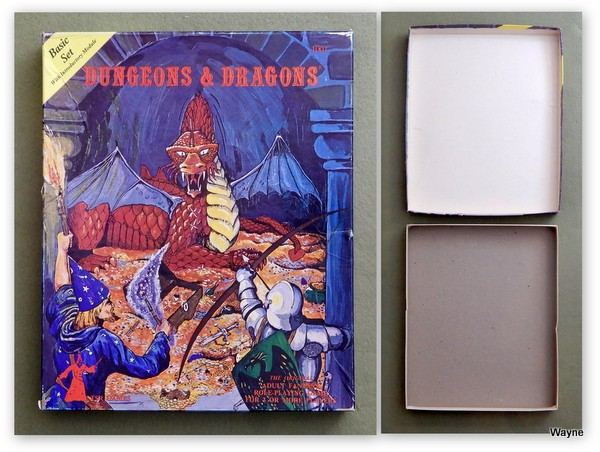 Dungeons & Dragons Expert set prinitngs comparison
