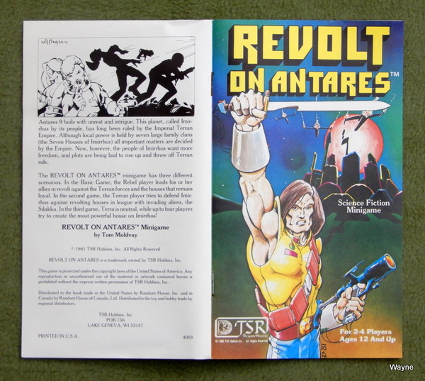 Revolt on Antares cover and back