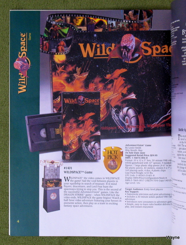 WILDSPACE - TSR 1994 catalog pg 4