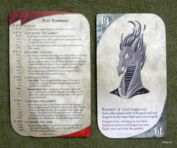 Three Dragon Ante - Bahamut and rules