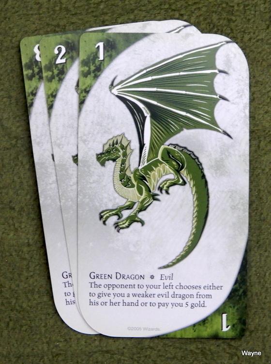 Three Dragon Ante - green dragon