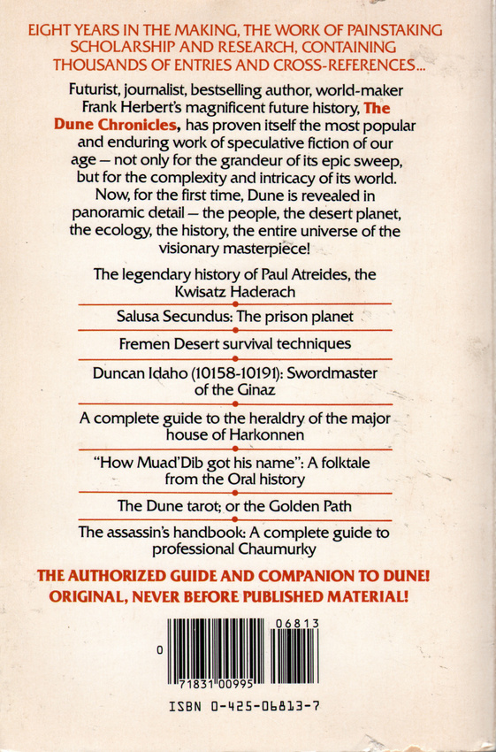 Dune Encyclopedia back