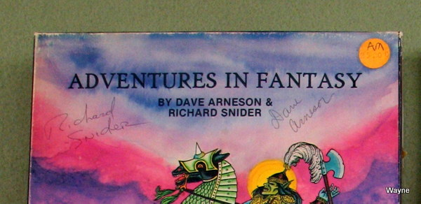Adventures in Fantasy signed typical