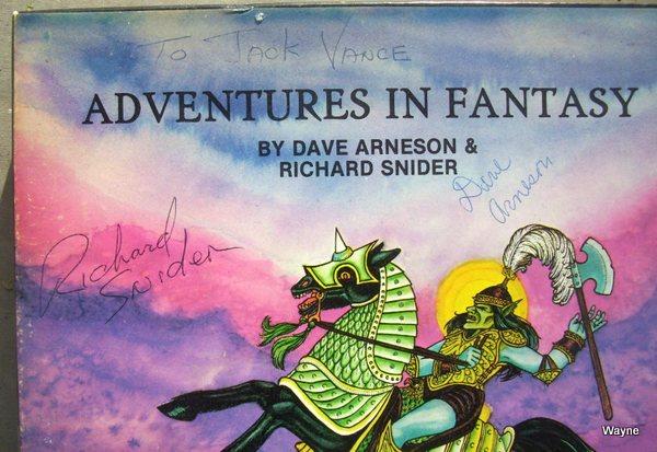Adventures in Fantasy signed