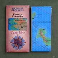 The Eastern Countries Trail Map (1989): D&D Known World Setting
