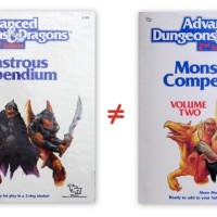 Identity Crisis: AD&D Monstrous Compendium Volume Two