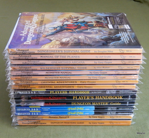 AD&D hardcovers listed prof