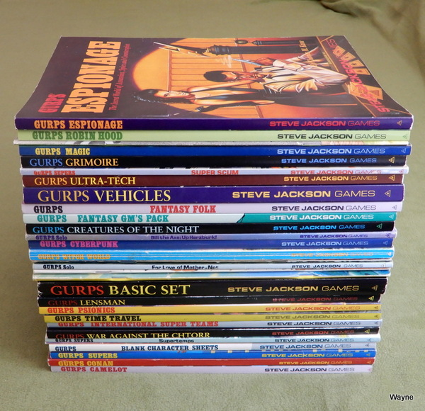 GURPS book lot - Aug 2019
