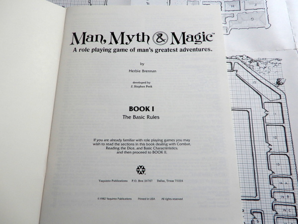 Man Myth Magic book 1 title page