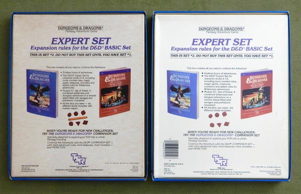 BECMI Expert Set lids bottom