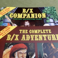 B/X Companion and B/X Adventurer in stock
