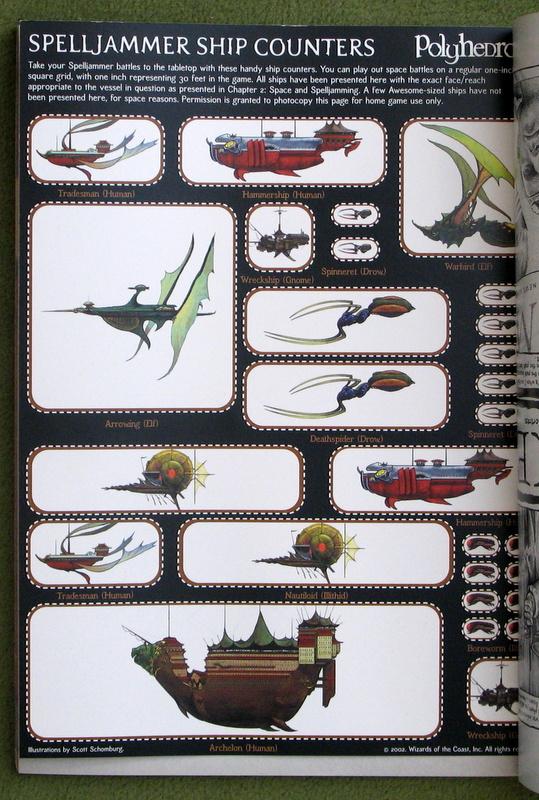 Dungeon 92 - Polyhedron 151 - Spelljammer ship tokens