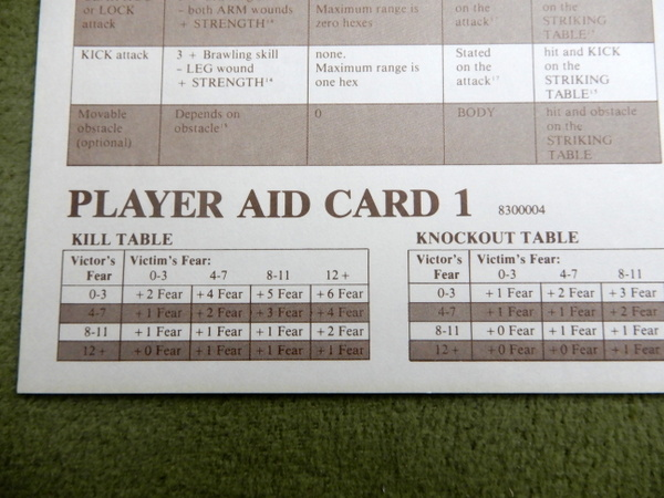 Gunslinger Player Aid Cards detail 1