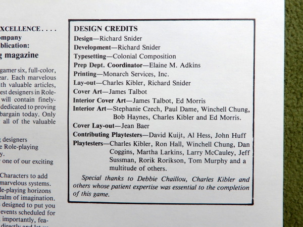 Powers & Perils credits