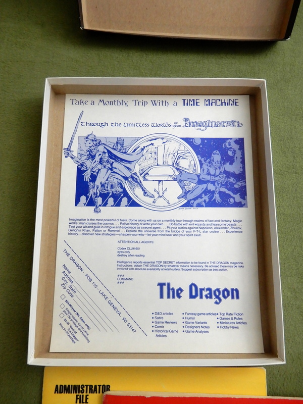 Top Secret black box 1st ed w Dragon ad