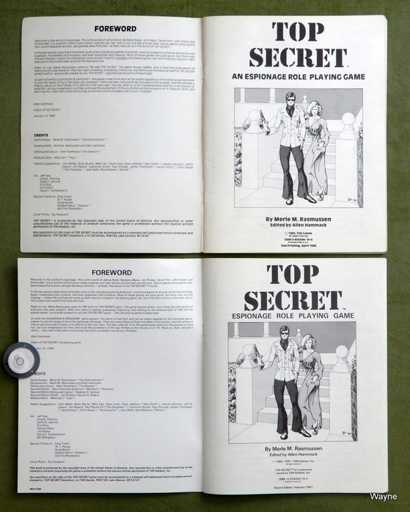 Top Secret black box book printings title page