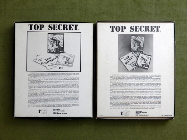 Top Secret black box printings bottom box