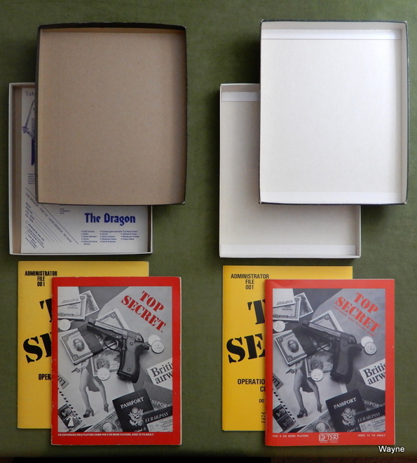 Top Secret black box printings inside lids