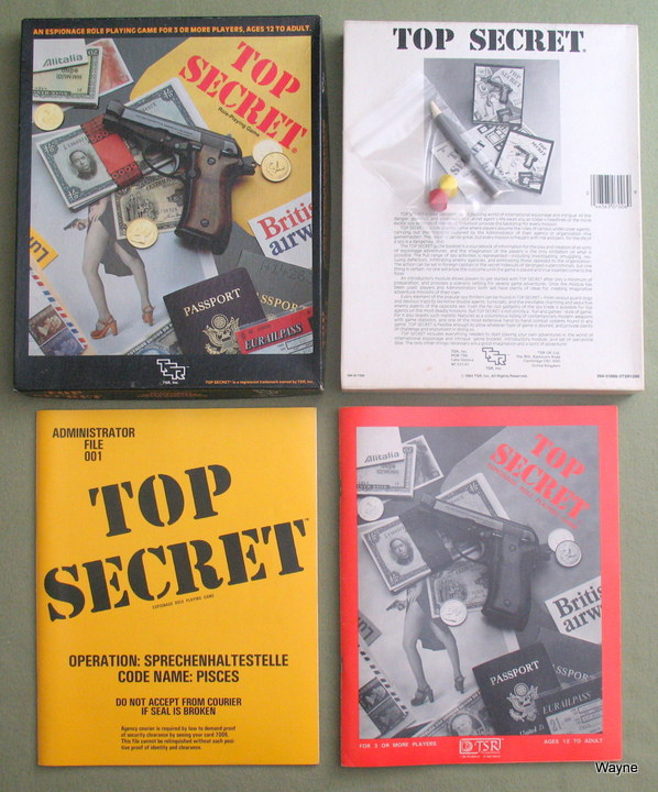 Top Secret Box 2nd set - Angled TSR logo