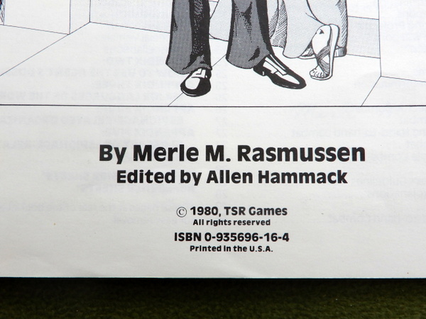 Top Secret rulebook 1st 1st book printings copyright