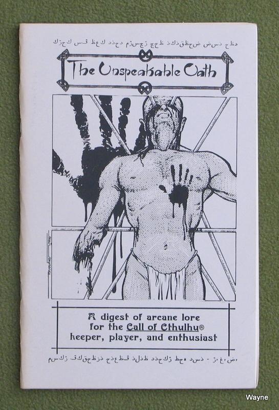 Unspeakable Oath 1 - 1st print