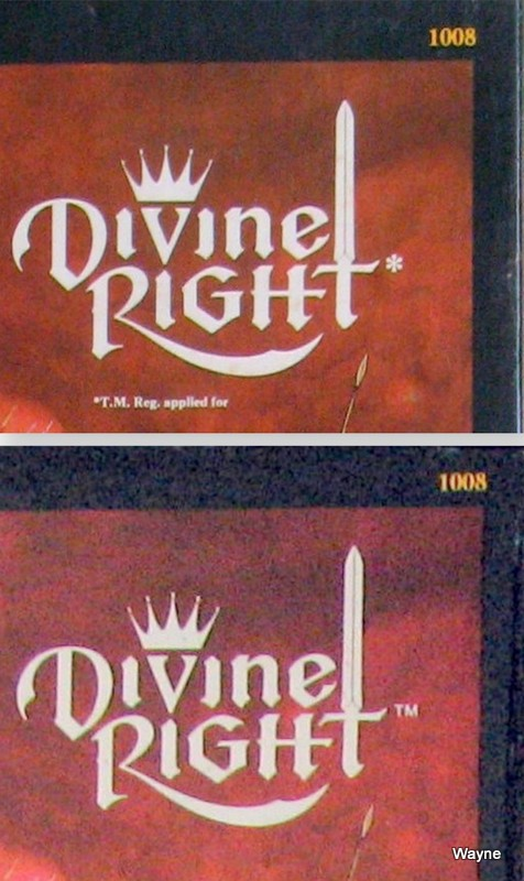 Divine Right title 1st & 2nd