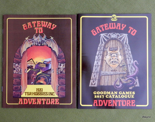 TSR and Goodman Games catalogs