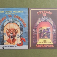 GATEWAY TO ADVENTURE: TSR's Classic Games Catalog (1980 & 1981), plus Rare Black Cover