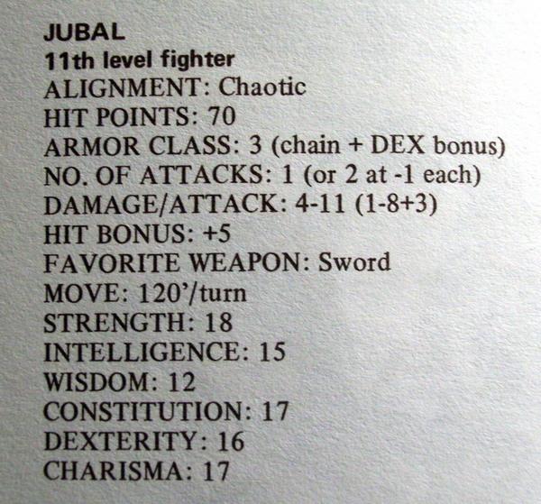 Jubal - 4 - D&D