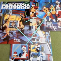 PARANOIA (1984): Jim Holloway's brilliant cover art encapsulates the game