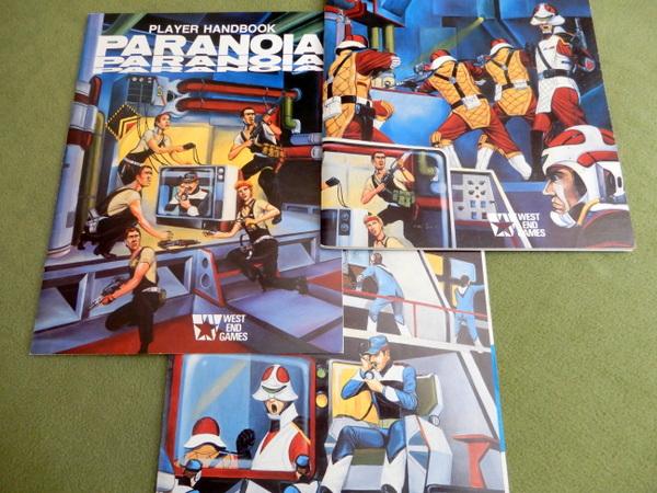 Paranoia 1st books theme art