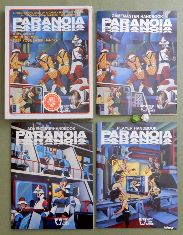 Paranoia 1st box set w seal & dice