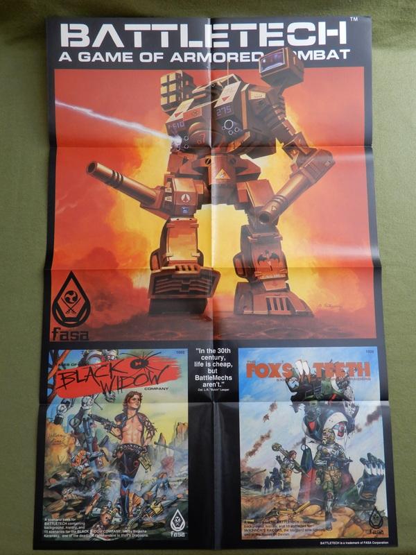 Battletech Poster - Black Widow Fox's Teeth-001