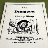 1982 Dungeon Hobby Shop Catalog... with Poster of Mounted Paladin versus 3 Orcs