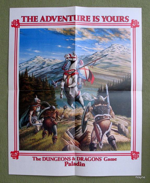 AD&D Paladin poster b